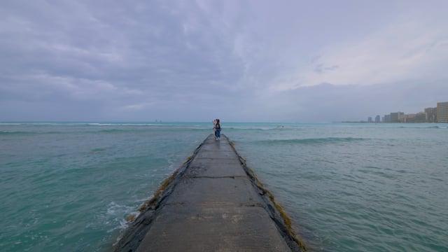 Virtual Walk along Waikiki Beach