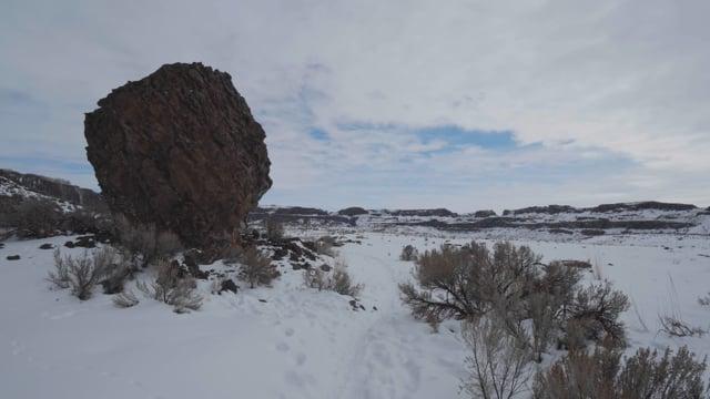 Ancient Lakes. Eastern Washington. Winter Virtual Hike
