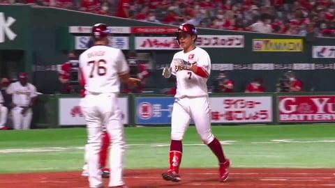 【3回表】イーグルス・鈴木 完璧に捉えた勝ち越しの2ランホームラン!! 2021/7/13 H-E