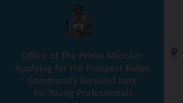 Applying for Prospect Ridge Community Serviced Lots