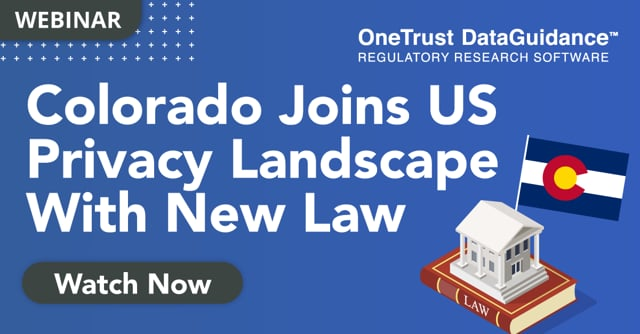 Colorado Joins US Privacy Landscape With New Law