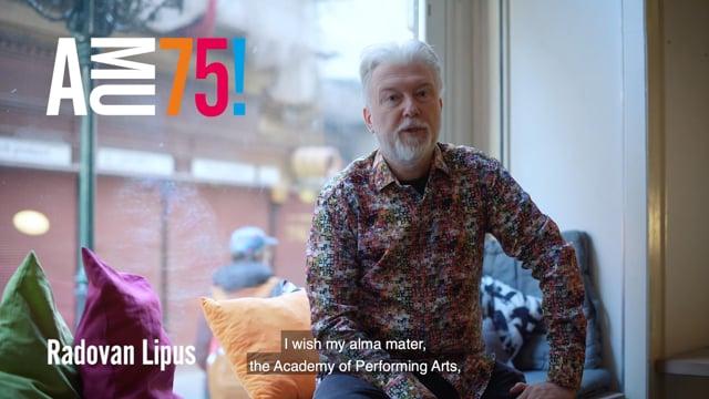 V dnešním videu posílá své přání AMU divadelní, televizní, rozhlasový režisér a pedagog Divadelní fakulty Radovan Lipus.