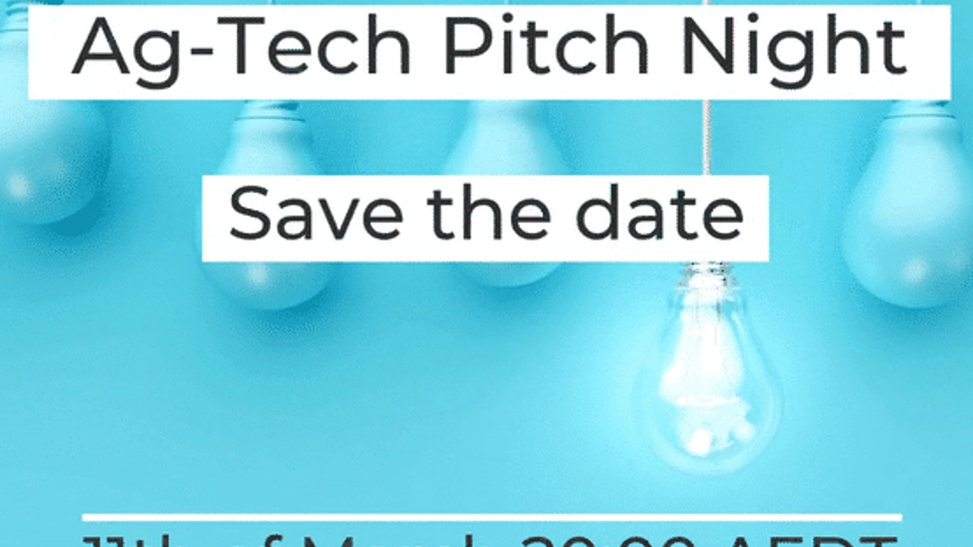 Ag-Tech pitch night Registration is Open