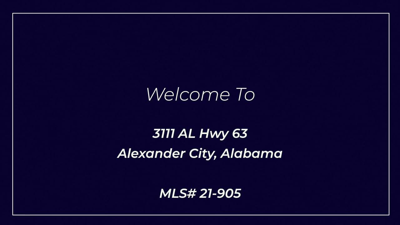 3111 Hwy 63 Alexander City, AL (U)
