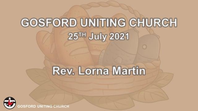 25th July 2021 - Rev. Lorna Martin