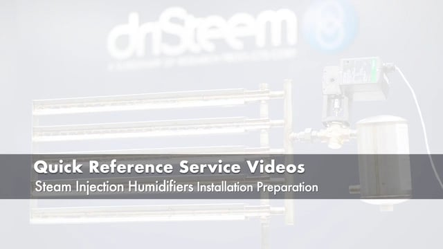 Steam Injection Humidifier Installation Preparation