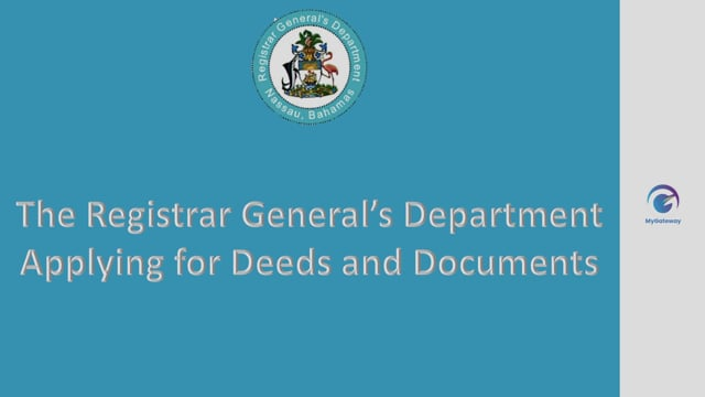Applying for Deeds and Documents