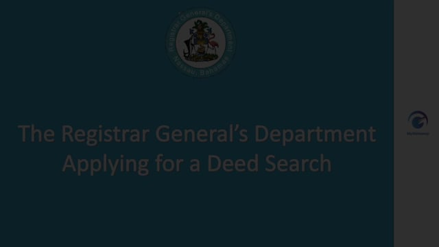 Applying for a Deed Search