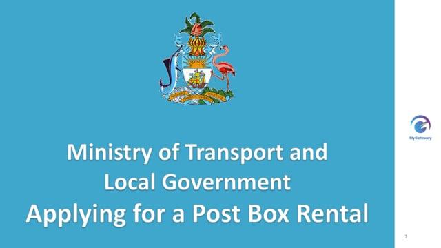 Applying for a Post Box Rental
