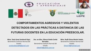 Comportamientos Agresivos y Violentos Detectados en las Prácticas a Distancia de las Futuras Docentes en la Educación preescolar.