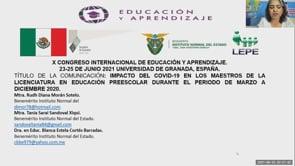 Impacto del COVID-19 en los Maestros de la Licenciatura en Educación Preescolar Durante el Periodo de Marzo a Diciembre 2020.