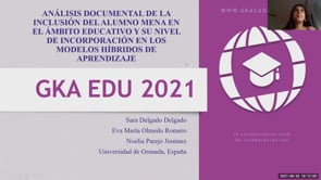 Análisis documental de la inclusión del alumno MENA en el ámbito educativo y su nivel de incorporación a los Modelos híbridos de aprendizaje