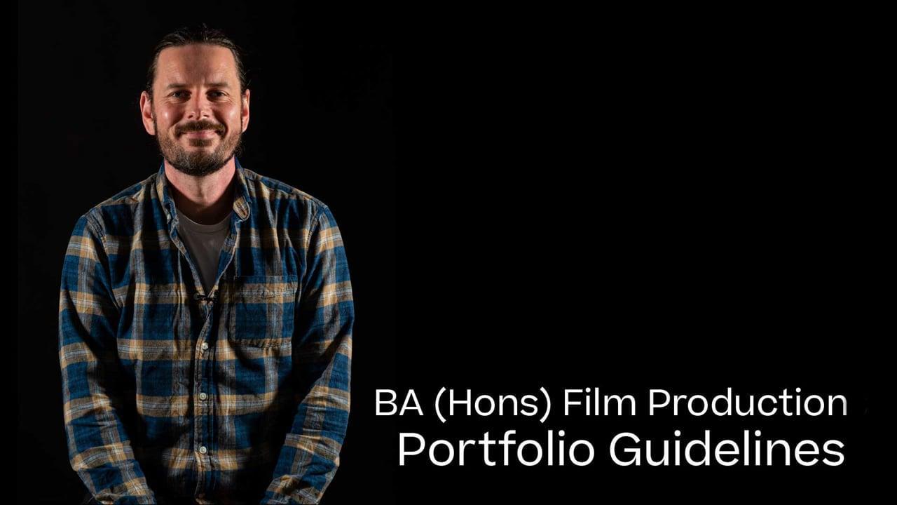 Film Production Portfolio Guide 2021