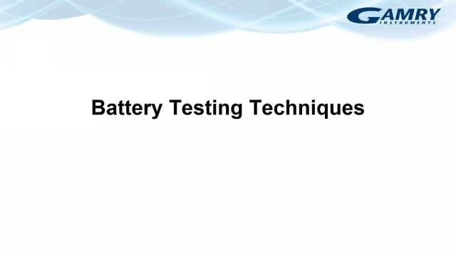 Battery Testing Techniques