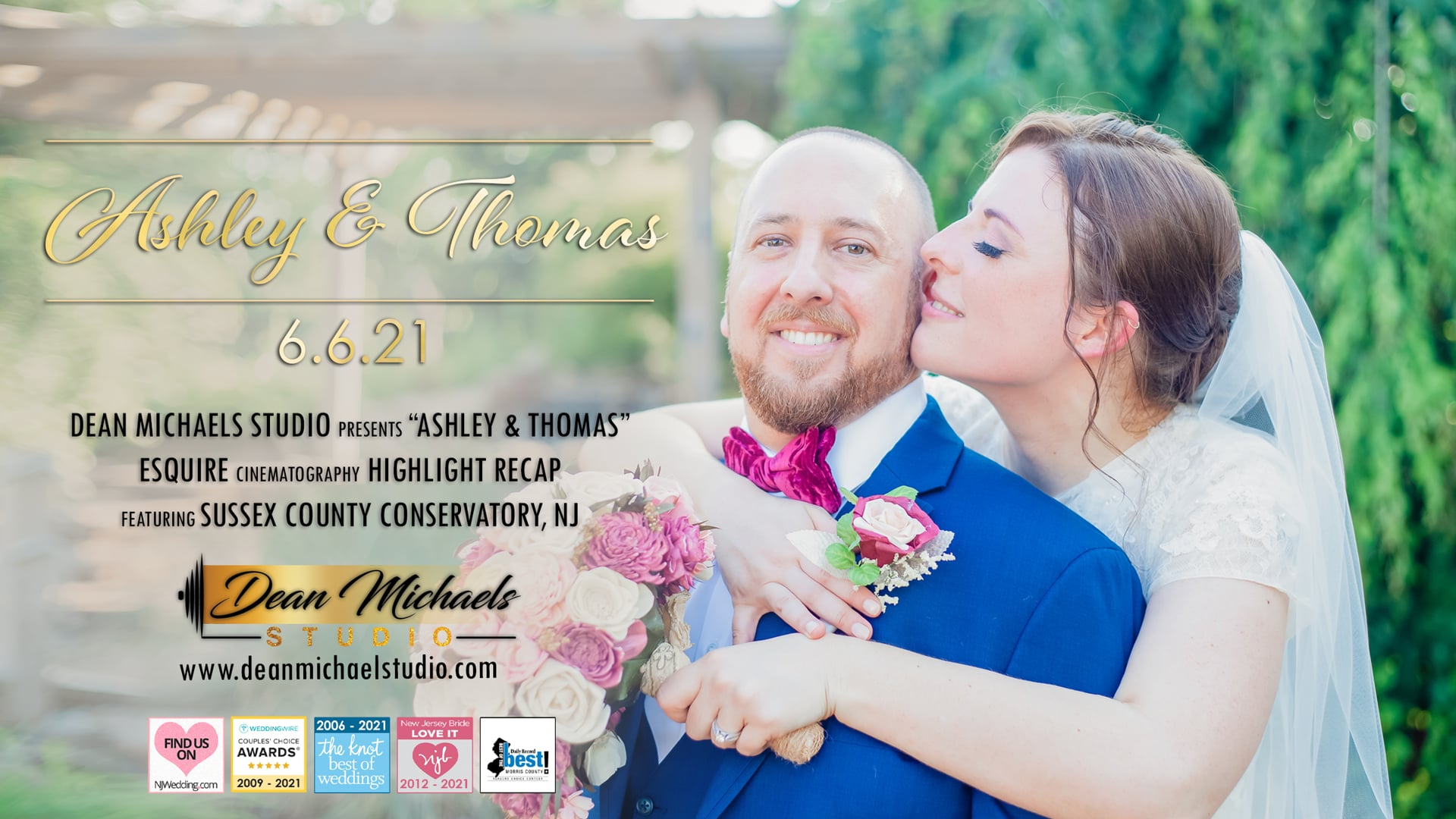 Ashley & Thomas's Wedding Highlight Recap at The Sussex County Conservatory, NJ