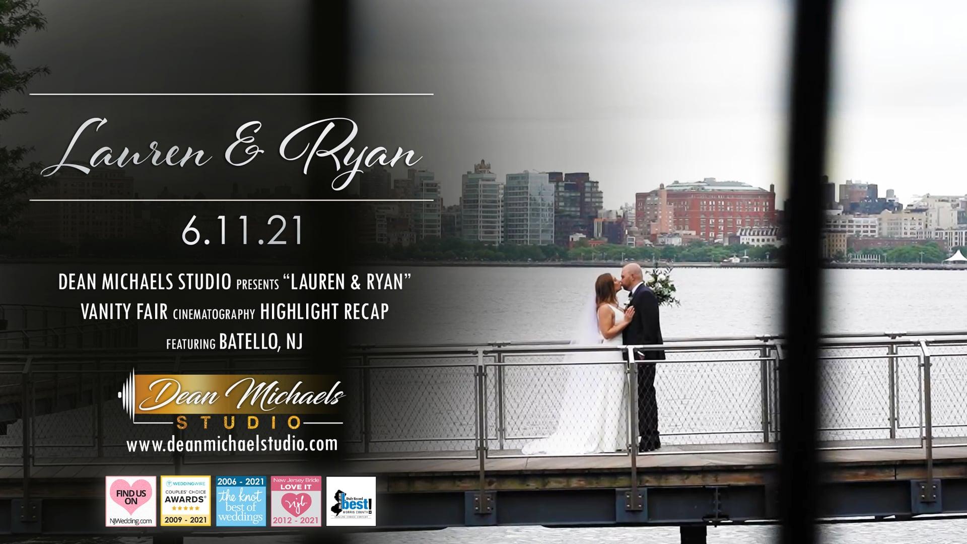 Lauren & Ryan's Wedding Highlight Recap at Batello, NJ