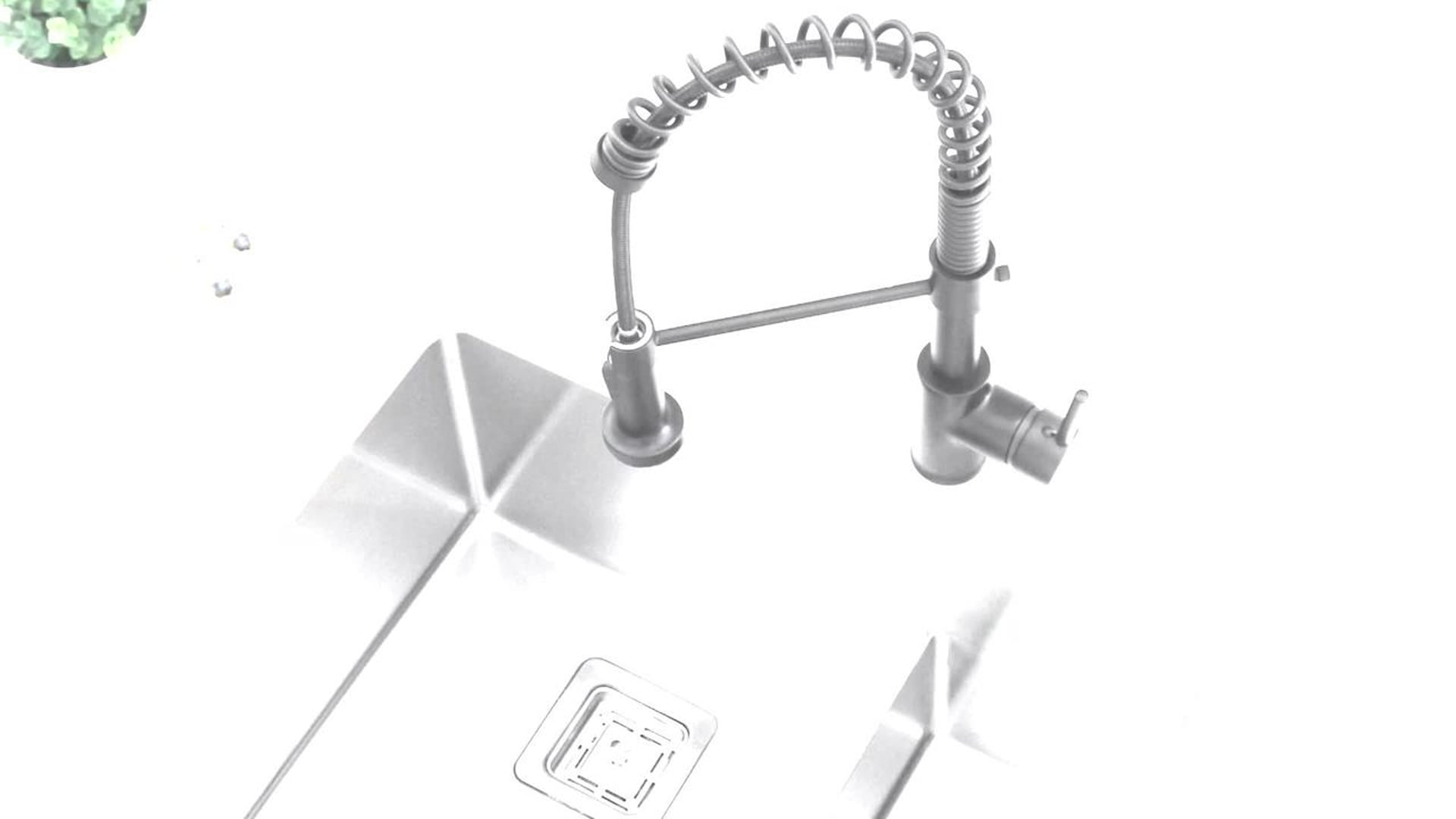 """STYLISH 30"""" Premium Handcrafted Undermount 16G Stainless Steel Sink With Grids"""