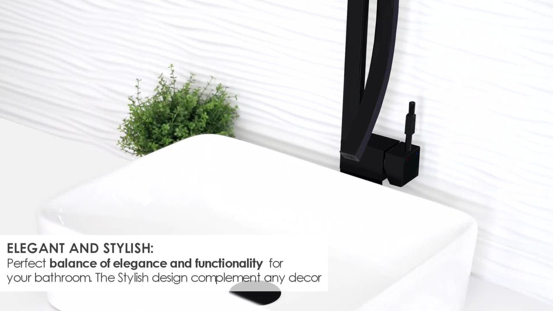 STYLISH Single Handle Bathroom Faucet for Single Hole Brass Vessel Mixer Tap