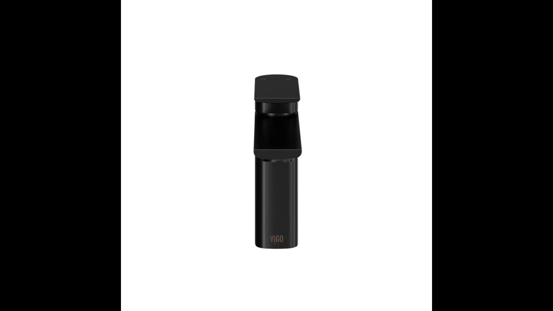 VIGO Davidson Single Hole Bathroom Faucet, Matte Black