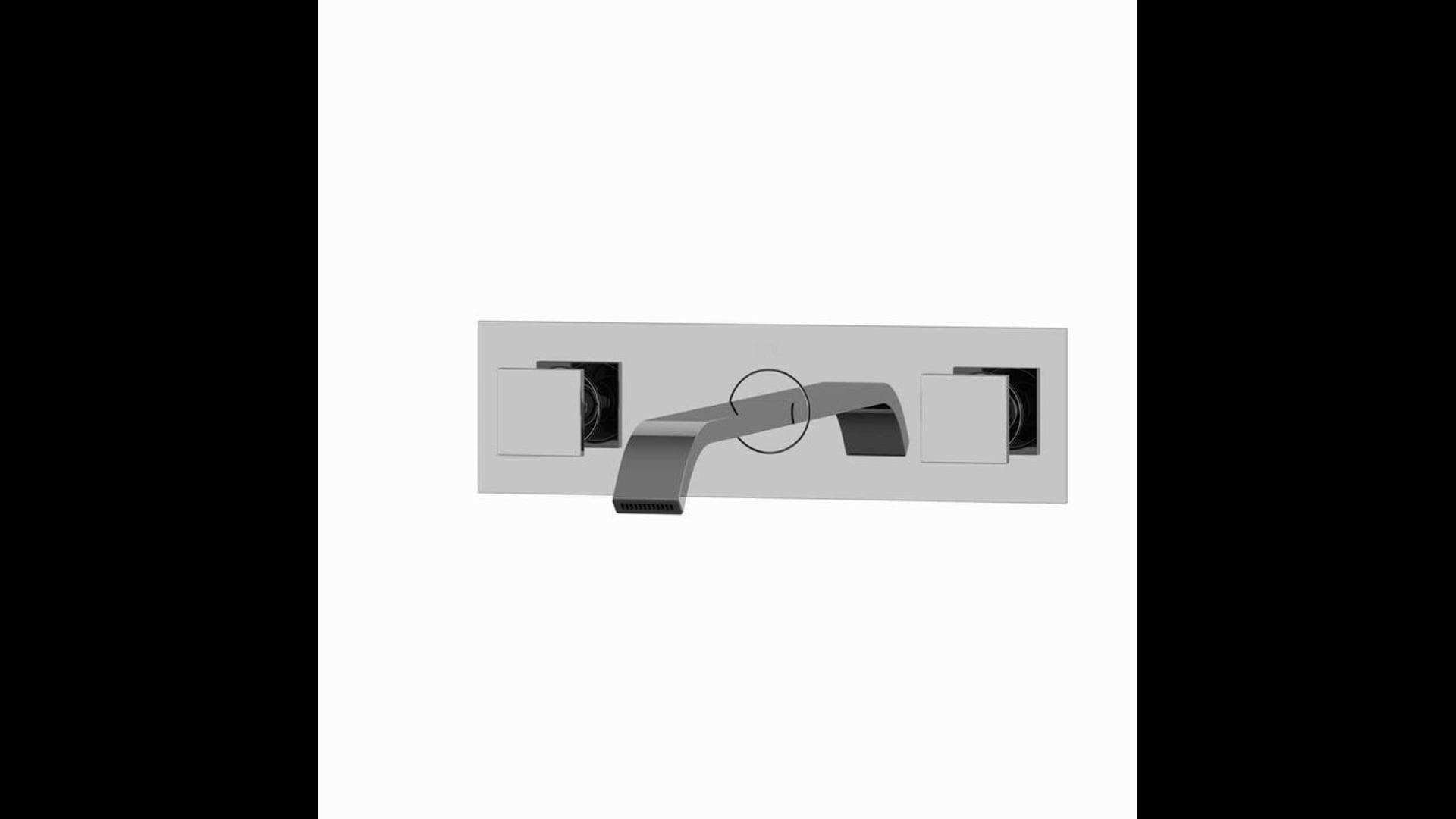 VIGO Titus Dual Lever Wall Mount Bathroom Faucet, Chrome