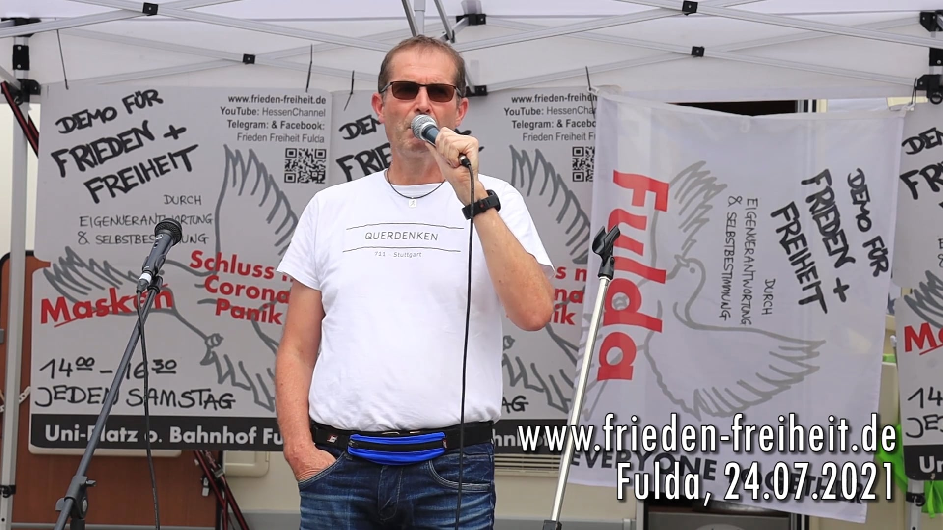 Wolfgang Greulich: Demo Frieden und Freiheit Fulda 24.07.21