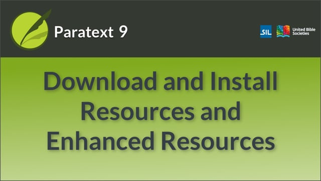 Download and Install Resources and Enhanced Resources (9.0 0.3a)
