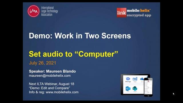 LINK App Work in Two Screens Webinar 26:10