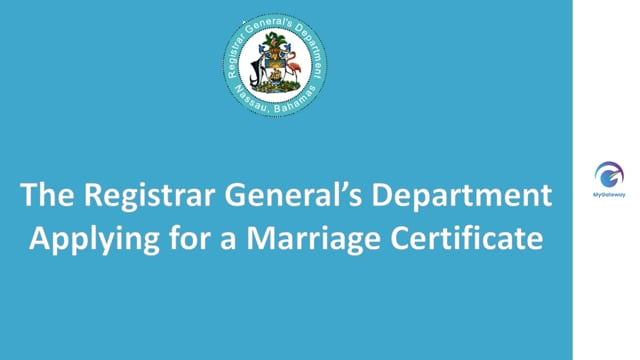 Applying for Marriage Certificate