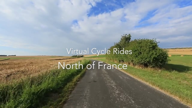 Virtual Cycle North of France with Mont Saint Michel and Calais Rolling Hills with Nature and Bird Songs
