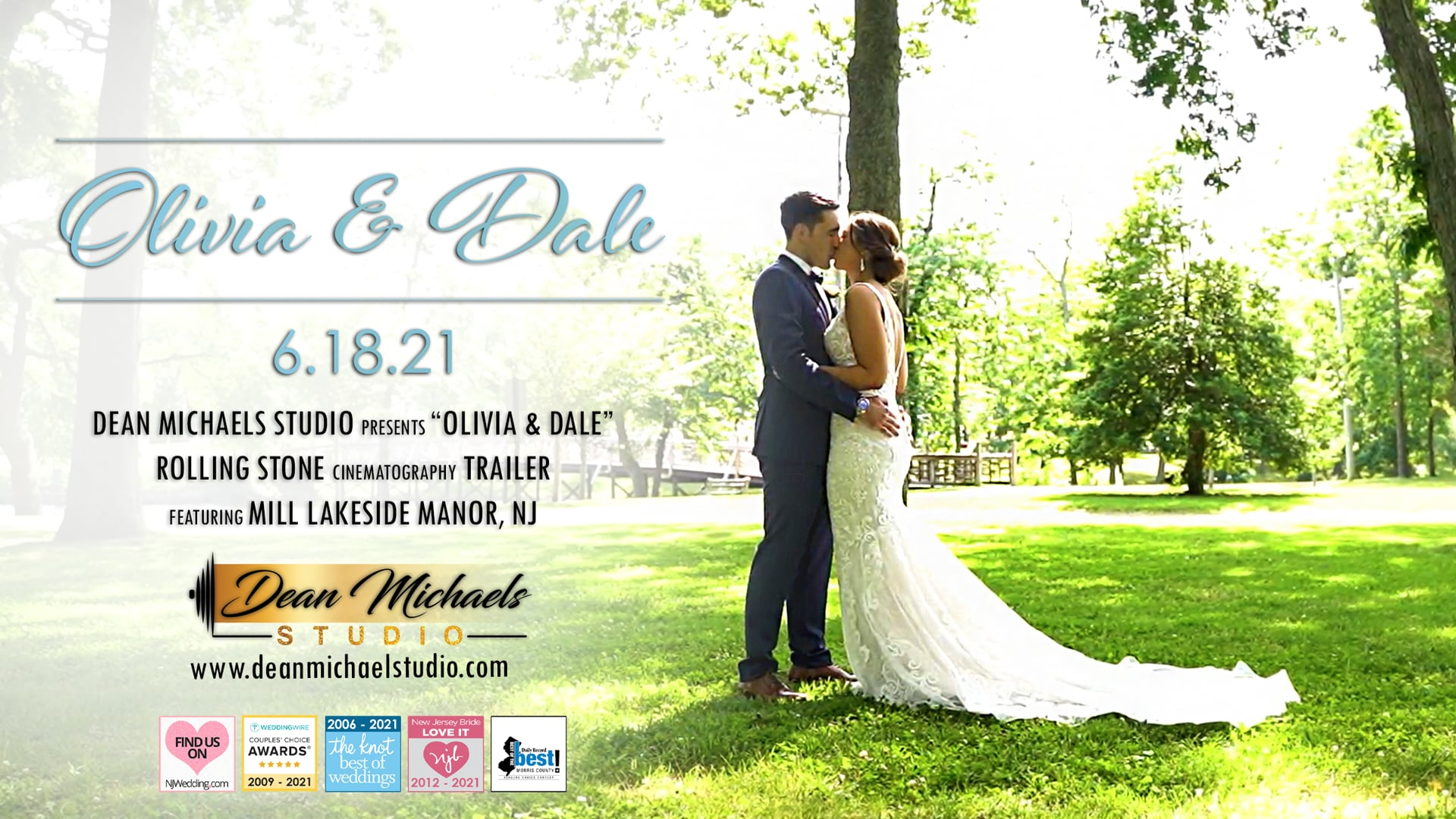 Olivia & Dale's Wedding Trailer at The Mill Lakeside Manor, NJ