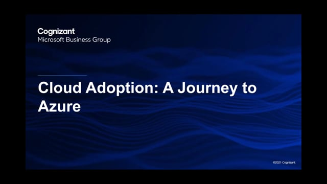 Cloud Adoption: A Journey to Azure - Webinar
