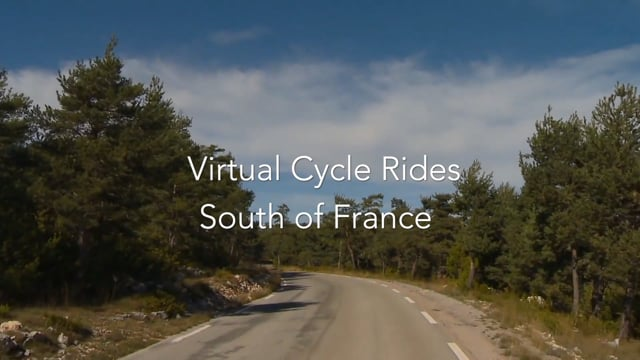 Virtual Cycle Rides - South of France for Indoor Cycling Workouts or Exercise Bikes