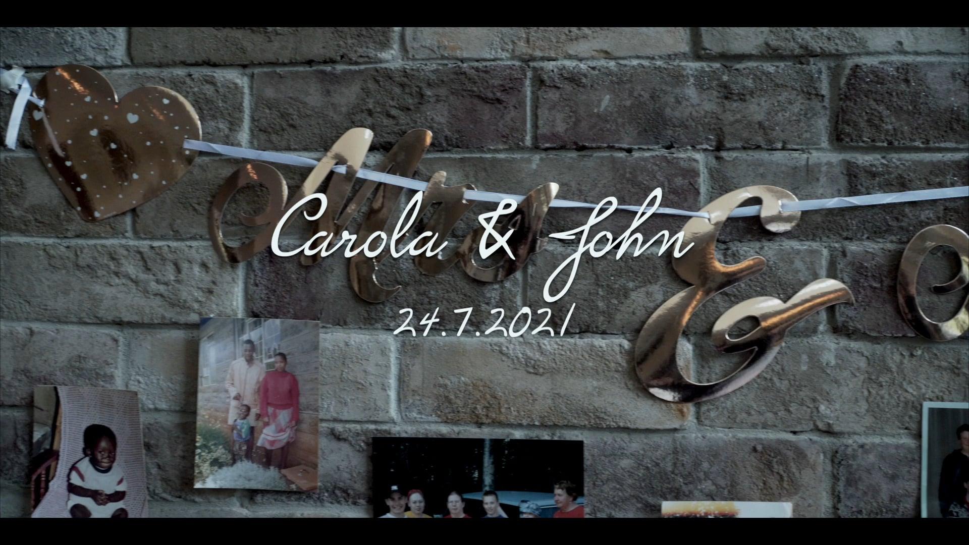 Carola & John 24.7.2021