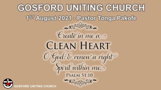 1st August 2021 Pastor Tonga Pakofe