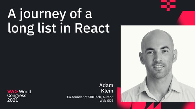 A journey of a long list in React