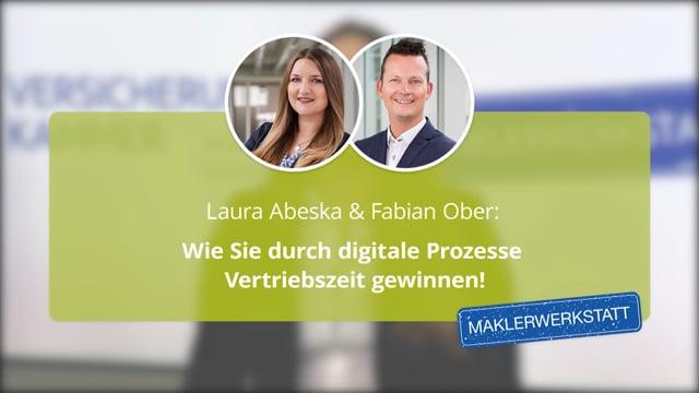 Laura Abeska & Fabian Ober: Wie Sie durch digitale Prozesse Vertriebszeit gewinnen!