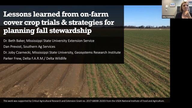 On-Farm Cover Crop Trials