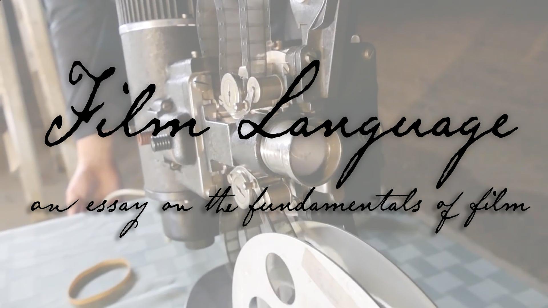 Film Language - Video Essay