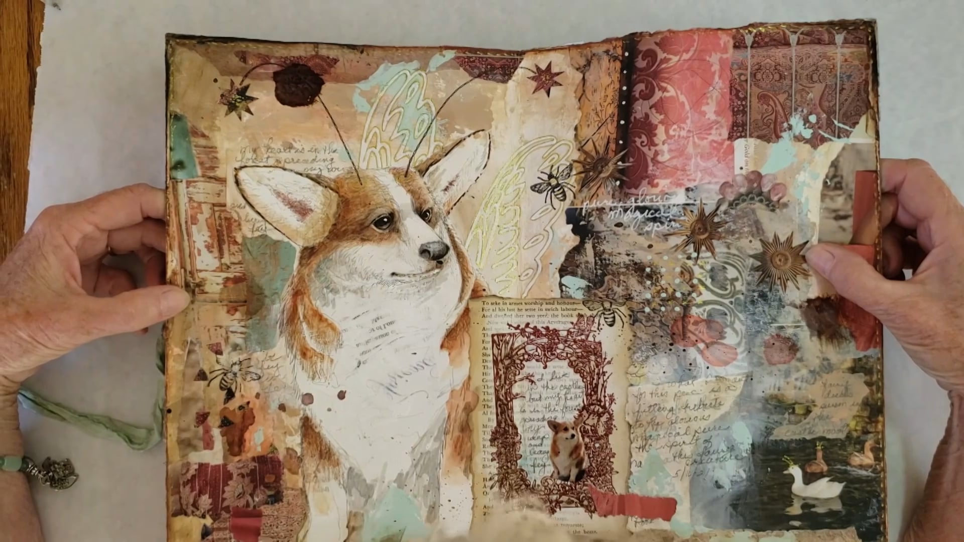 Art Journal 3 Part 5: Corgi Fairy