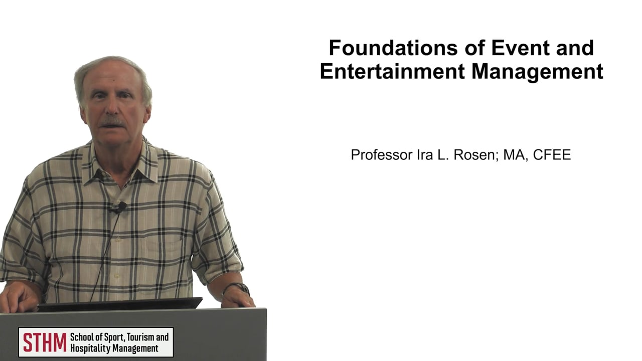 62107Foundations of Event and Entertainment Management