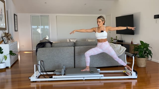40min lower body and ab focused reformer workout