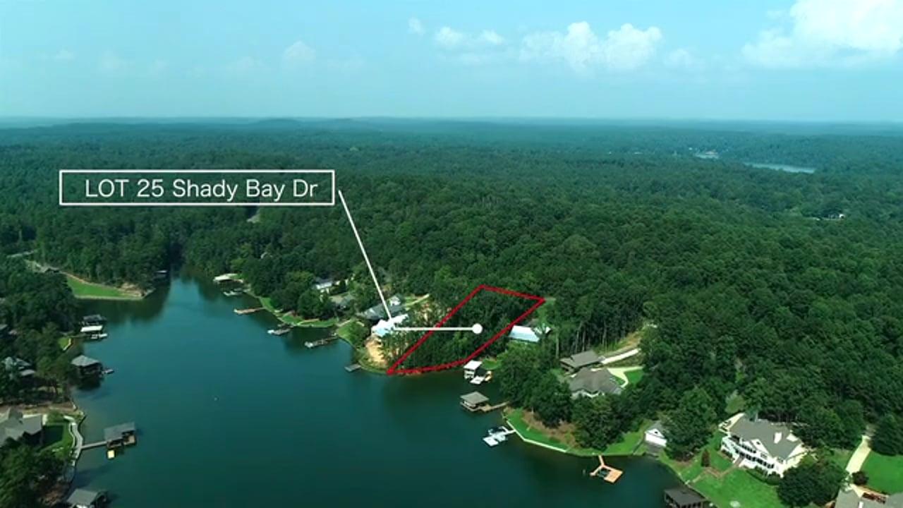 Lot 25 Shady Bay Dr.  Lake Martin