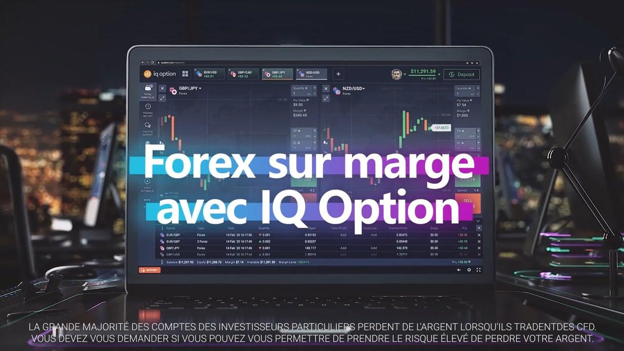 Forex sur marge avec IQ Option