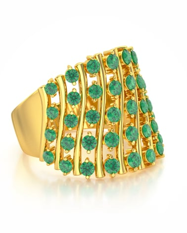 Vídeo: Anillo de Oro Esmeraldas y diamantes 1.32grs