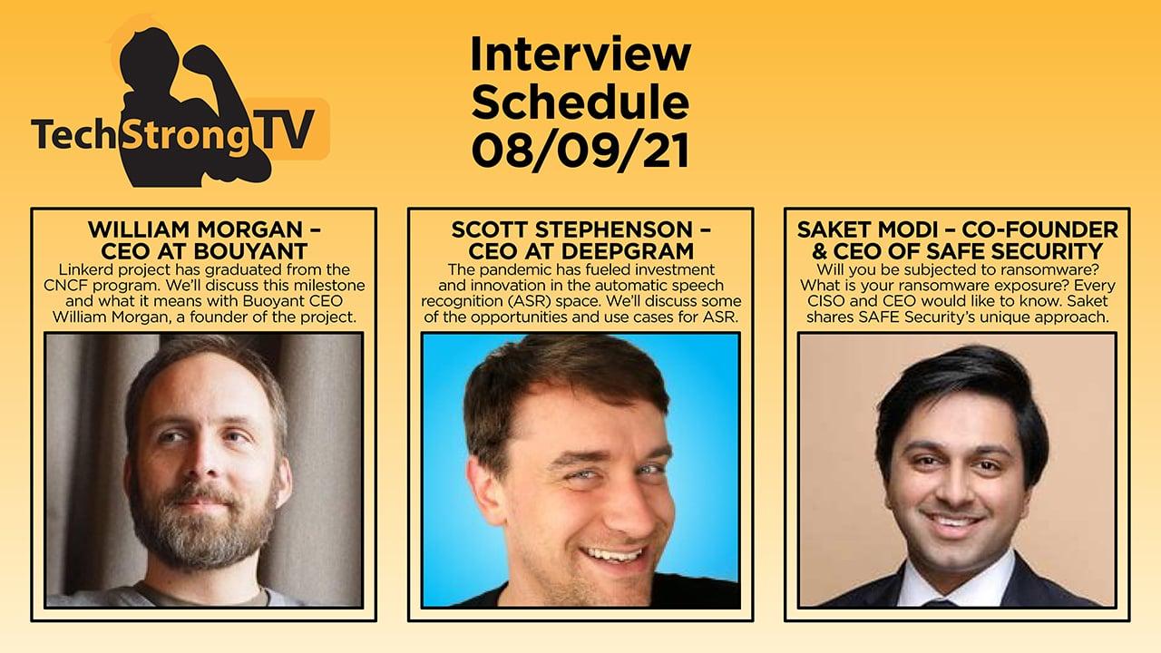 TechStrong TV – August 9, 2021