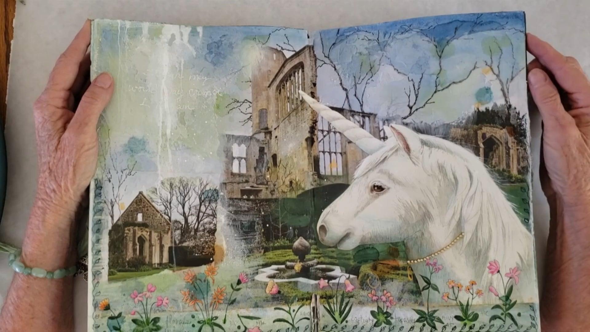 Art Journal Three Part Seven Unicorn