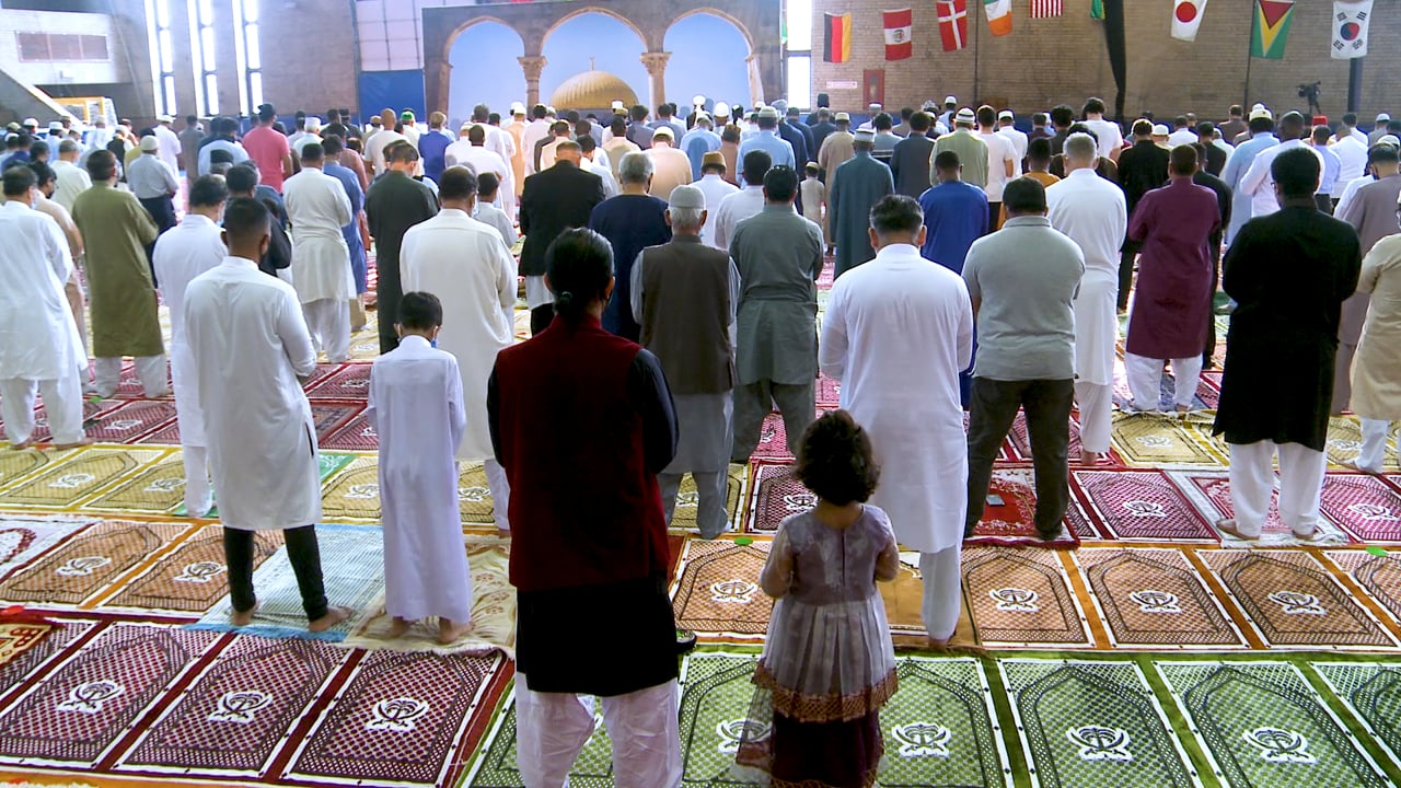 Eid Ul Adha Prayers July 20th 2021 at Teaneck Armory, Teaneck, New Jersey