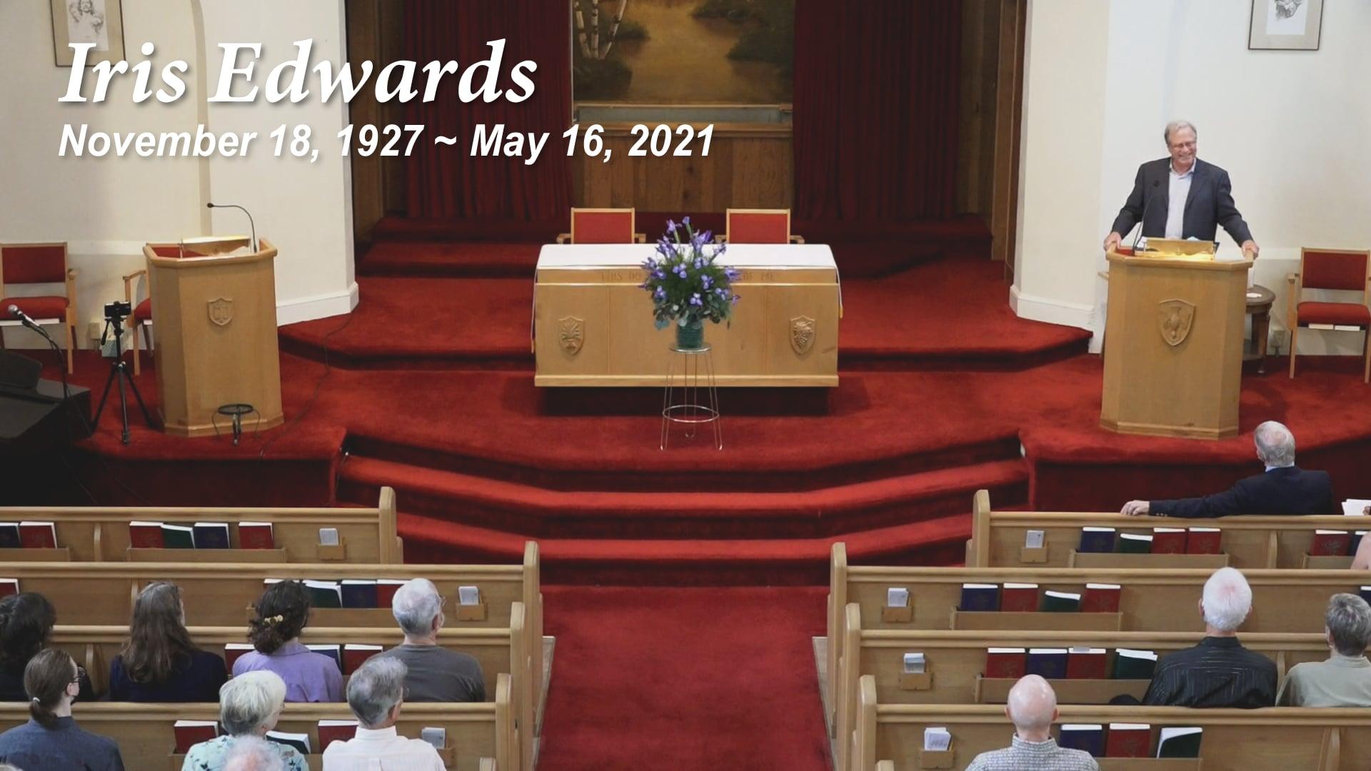 Memorial Service for Iris Edwards