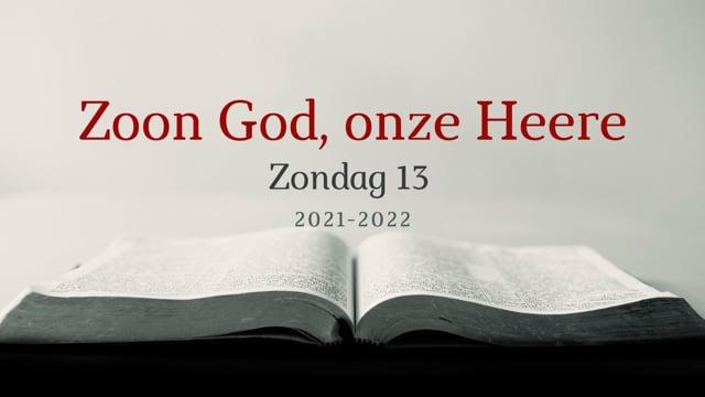 Preek Catechismus Zondag 13   Ds. J. IJsselstein