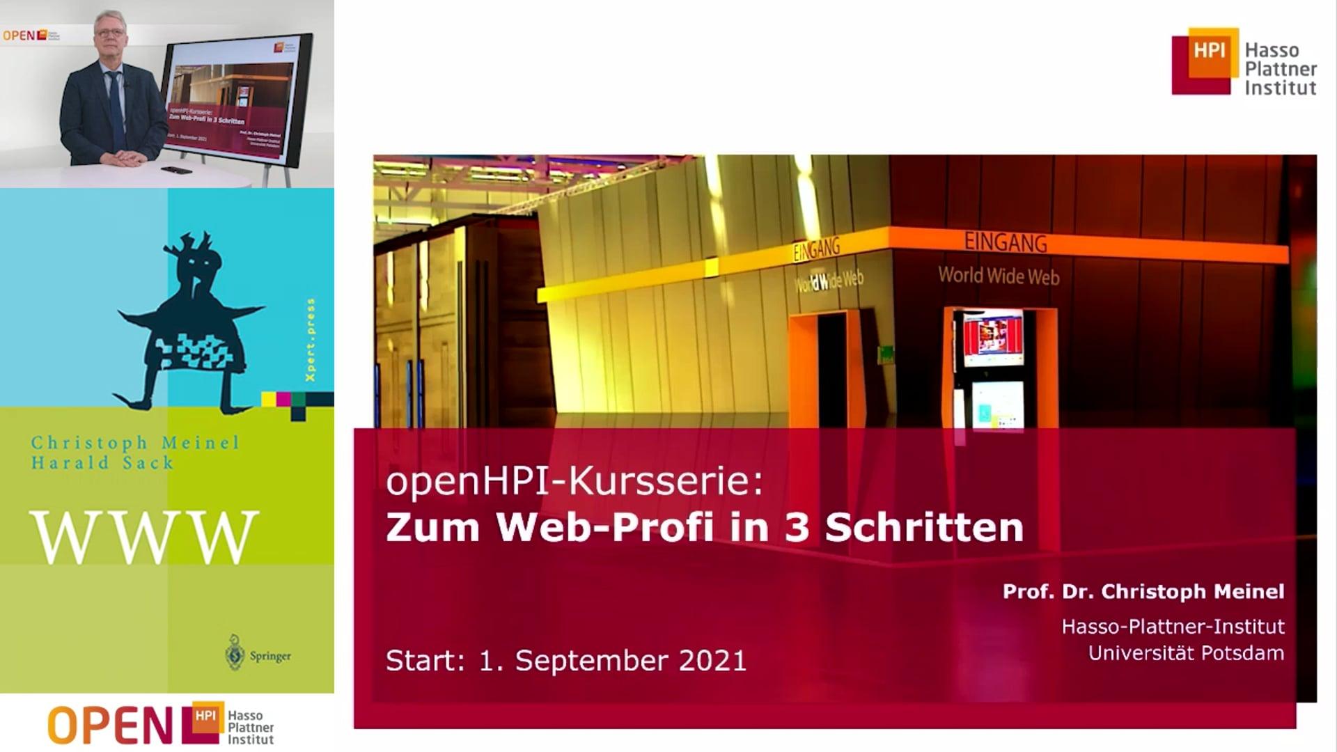 """Vorstellung Kursserie """"Zum Web-Profi in drei Schritten"""""""
